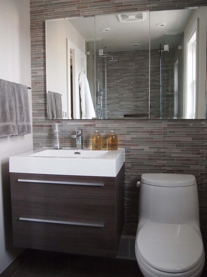 дизайн ванной в темонм стиле