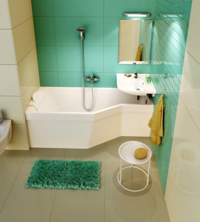 дизайн ванной в зеленгом цвете