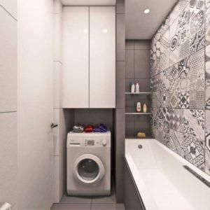 Идеи размещения стиральной машины в ванной c фото