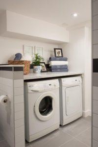 Расстановка мебели и стиральной машины в ванной комнате