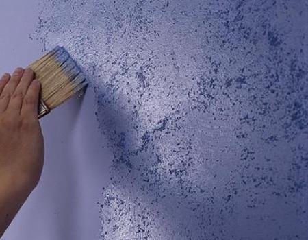 удаление старой краски со стены